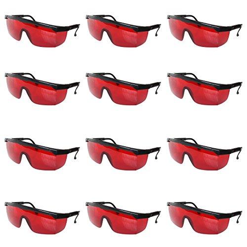 GROS LOT   Notre large lunette de protection ensemble de 12 paires de  lunettes aux verres teintés rouge vous apportera la protection  indispensable pour vos ... db98e4856cec