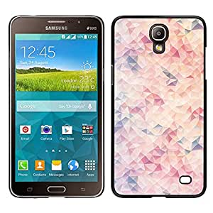 Samsung Galaxy Mega 2 / SM-G750F / G7508 Único Patrón Plástico Duro Fundas Cover Cubre Hard Case Cover - Shapes Pattern Pastel Colors White