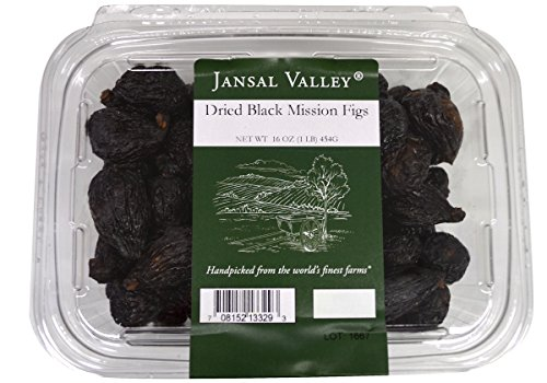Jansal Valley Dried Black Mission Figs, 1 Pound (Dried Black Mission Figs)