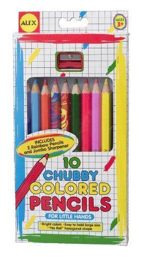 ALEX Toys Artist Studio 10 Chubby Colored Pencils