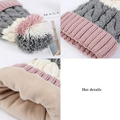 Color Terciopelo forrado For Punto Woman Winter Warm Beanie Acmede 3 Beanie H1pPqn
