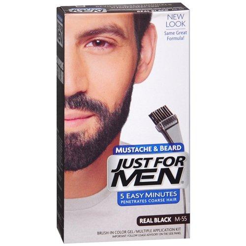 JUST FOR MEN Color Gel Mustache & Beard M-55 Real Black 1 Ea
