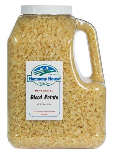 Harmony House Foods, Dehydrated Potatoes (50 oz, Gallon Size Jug) by Harmony House