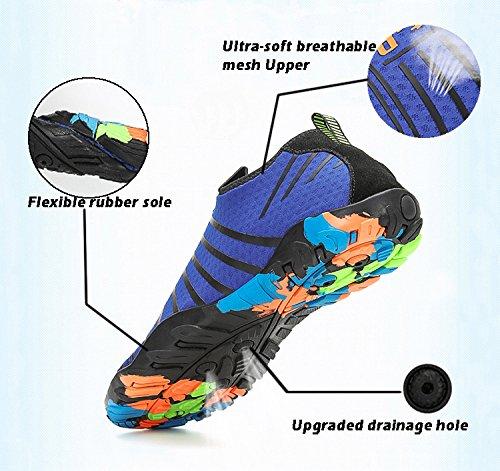 Chaussures Natation Chaussons de Hommes Bleu Femmes Aquatiques Voovix pour Piscine Antidérapantes Respirants Aqua Plage Yoga Légers Shoes Surf wdpqOw