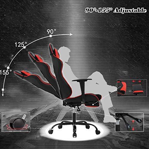 BestMassage Office Chair Gaming Chair High Chair, with Footrest, and