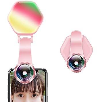 KOBWA - Lente para cámara réflex con iluminación de Selfie, 15 x ...