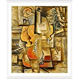 """Alonline Art - Violin And Grapes Pablo Picasso 