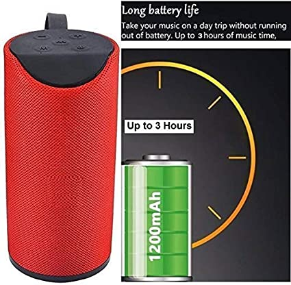 Jiyatech GT 111 Portable Wireless Bluetooth Speaker Compatible with All Android Mobile Phones (RED)