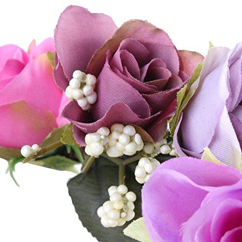 (DEATU Wreath for Women Girls Seaside Holiday Ladies Handmade Flower Hairband Crown Wedding Wreath Headdress Wreat)