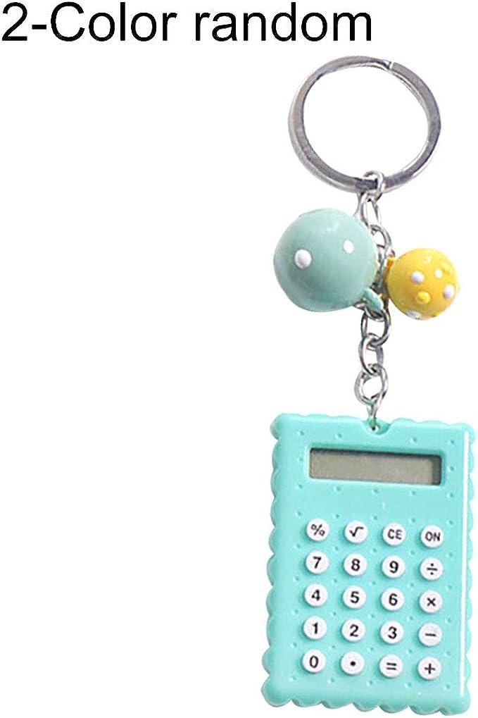 Portable Calculator Pocket Size Creative Keychain Calculator Office Supplies/'j$