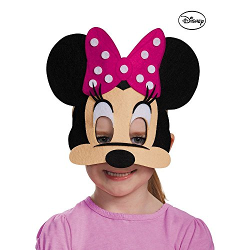 Disguise Costumes Minnie Mouse Pink Felt Mask, Toddler ()