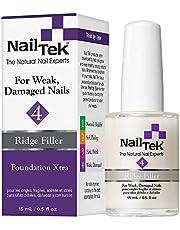 Nailtek Foundation Xtra Ridge-filling Nail Strengthener Base Coat, 0.5 Fluid Ounce