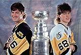 Mario Lemieux & Jaromir Jagr Pittsburgh Penguins Stanley Cup Photo (16