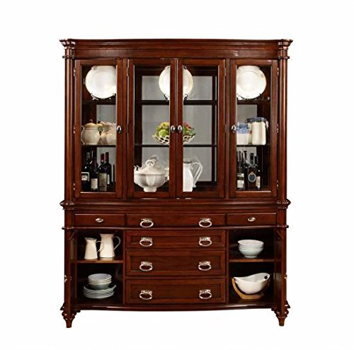 Coaster Home Furnishings 105444H China Cabinet Hutch, Dark Cognac
