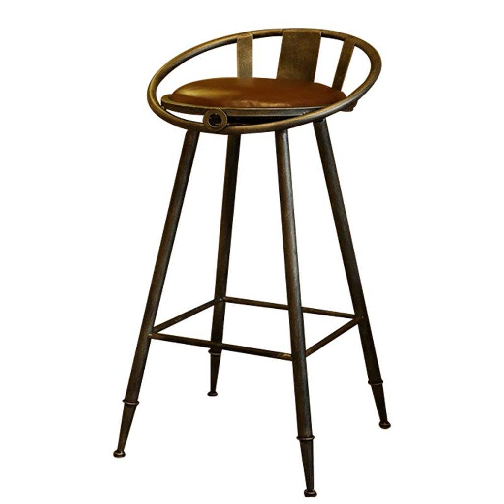 444475CM NYDZ Vintage Bar Bar High Stool Chair Bedroom Restaurant Cafe Chair Stool Bar Stool Height 44  44  75CM (Size   44  44  75CM)
