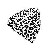 JPOQW Men Women Leopard Hat Woolen Knit Crochet Warm Winter Casual Cap