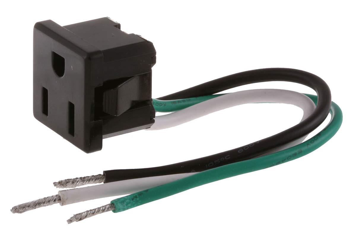 Bryant Electric RR374 Receptacle, Electrical Outlet, Black