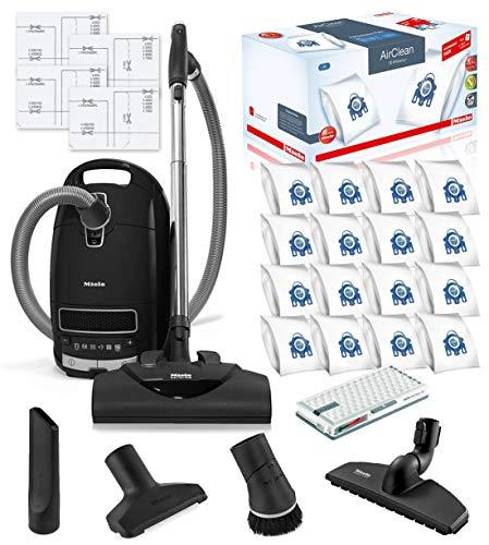 Miele Complete C3 Kona HEPA Canister Vacuum Cleaner with SEB228 Powerhead Bundle – Includes Miele Performance Pack 16 Type GN AirClean Genuine FilterBags + Genuine AH50 HEPA Filter