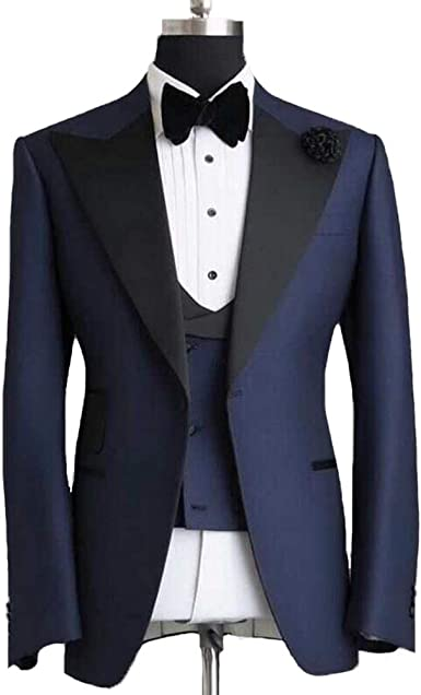 48R Jacket /& 42 Pants Formal Prom Wedding Men/'sTuxedo with Flat Front Pants
