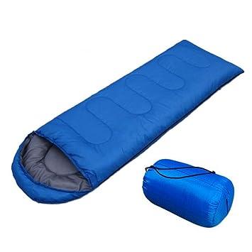 baijuxing Saco de Dormir con Sombrero para Acampar al Aire Libre Solo Impermeable 1.8KG Saco de Dormir 75 + 180 + 30cm: Amazon.es: Hogar