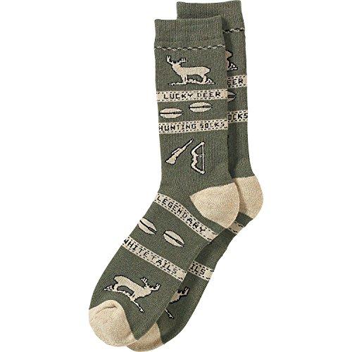Deer Socks (Legendary Whitetails Mens Lucky Deer Hunting Socks, Army Heather, One Size)