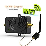 Wifi Signal Booster 5.8Ghz 5W Signal Extender Wifi Repeater Broadband Amplifiers for Wireless Router, with 5dBi Antenna