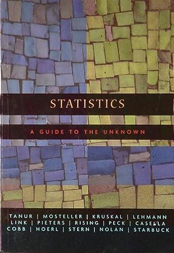 statistics a guide to the unknown michelle baird maureen staudt rh amazon com Elementary Statistics statistics a guide to the unknown 4th edition pdf