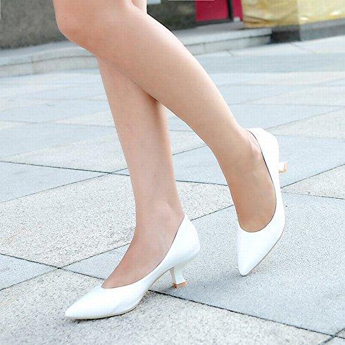 Mee Schuhes Damen spitz speziell heels spitz Damen Lack Pumps Weiß maarte  c1c079