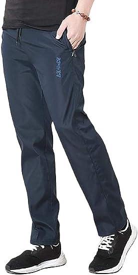 Qiangjinjiu メンズプラスサイズストレートハイウエストスポーツリラックスジョガーパンツ Black US 3X-L=China 4XL