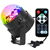 Syntus Party Lights 2.5m Power Cord Disco Ball 7 Colors LED Strobe Lights...