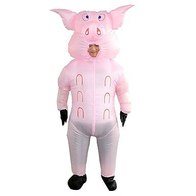 Amazon.com: HHARTS Disfraz hinchable de cerdo, disfraz de ...