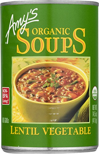 Amy's Organic Lentil Vegetable Soup, 14.5-Ounce