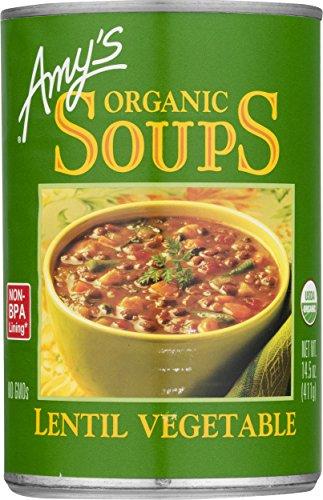 Amy#039s Organic Lentil Vegetable Soup 145Ounce