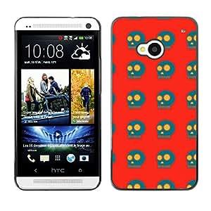 ZECASE Funda Carcasa Tapa Case Cover Para HTC One M7 No.0002134