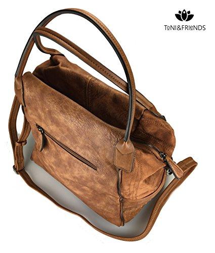 Lalta qualità Shopper XL, pratico ed elegante in marrone