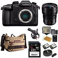 PANASONIC LUMIX DC-GH5 Body 4K Mirrorless Camera + Panasonic H-E08018 F/2.8-22 8-18mm, F2.8-4.0+ 128GB Bundle
