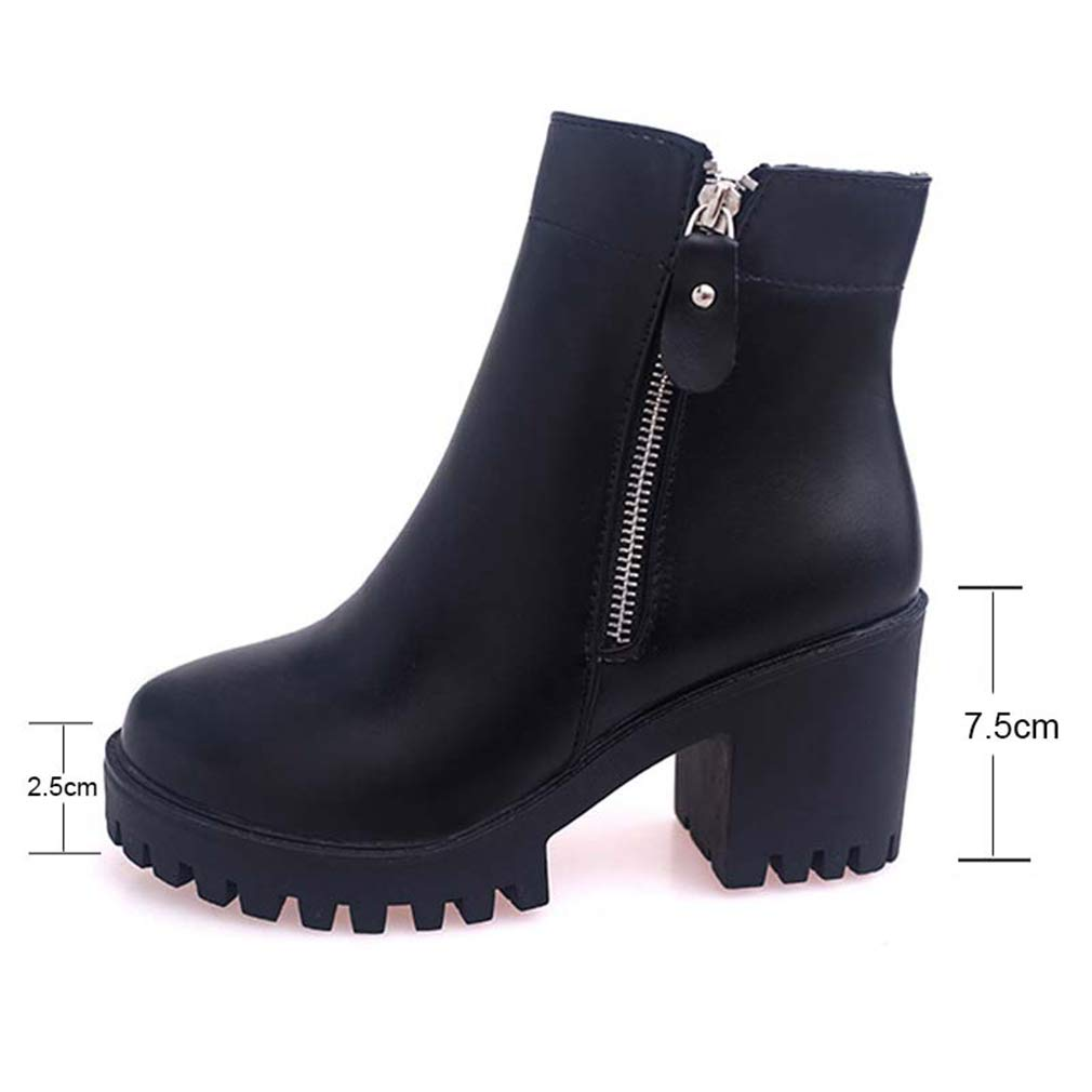 6928bece0 Amazon.com | Women's Martin Ankle Boots Fall-Winter Boots Ladies Mid ...