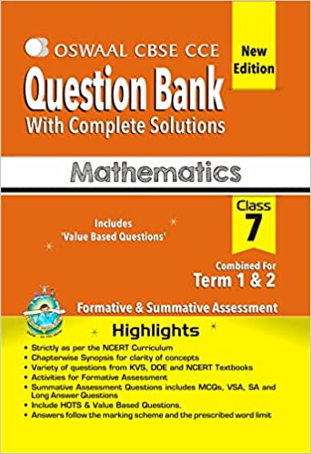 Buy Oswaal CBSE CCE Question Bank mathematics Class 7 (term