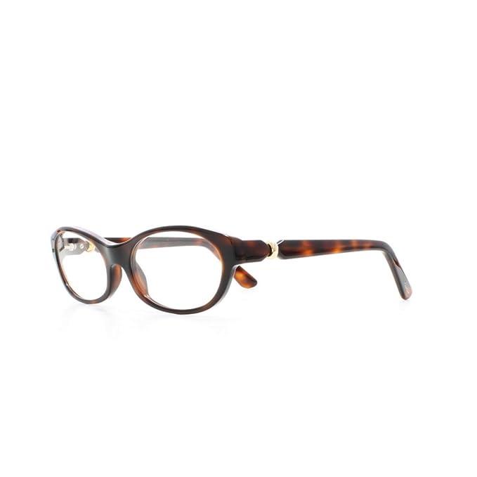 743c5fbea6 Cartier Alice T8101001 HVN Brown Havana Platinum Eyeglasses Frame  Rectangular For Women  Amazon.ca  Clothing   Accessories