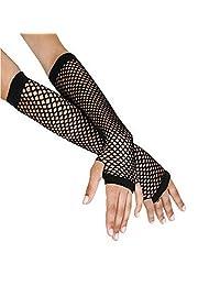 TAORE Punk Goth Lace Lady Disco Dance Costume Fingerless Mesh Fishnet Gloves