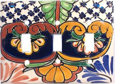 Triple Toggle Mantel Talavera Switch Plate by Fine Crafts & Imports
