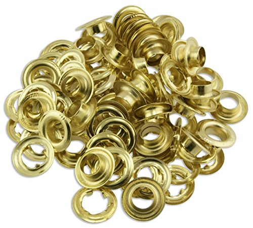 "RAM-PRO 50pc Quality Brass 1/2"" Grommets - Tarps, Canvas, Covers"