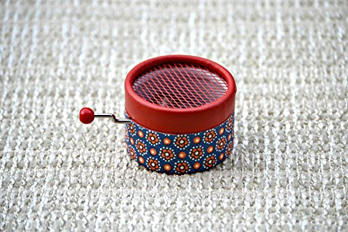 Hand Cranked red music box with the melody Canon in D by Pachelbel