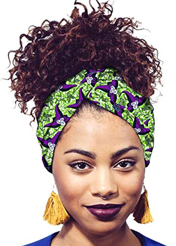 (Ababalaya Women's Extra Long African Traditional Print Head Wrap Headband Tie 78×2 inch,474)