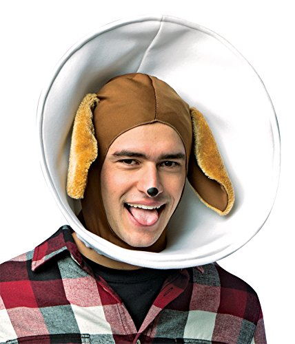 [UHC Men's Dog in Cone Headpiece Funny Theme Party Halloween Costume Accessory] (Costumes For Dogs With Cones)