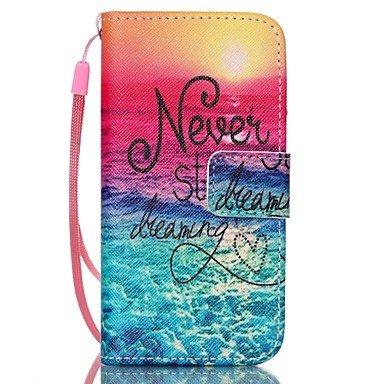 Wkae lever du motif de la mer PU corps entier étui en cuir avec protecteur d'écran et stylet pour iPhone 5 / 5s Wkae Case Cover