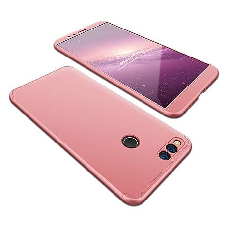 JMGoodstore Funda Compatible Huawei P8 Lite 2017,Carcasa Huawei Honor 8 Lite,360 Grados Integral Ambas Caras+Cristal Templado,[ 360°] 3 in 1 Slim ...