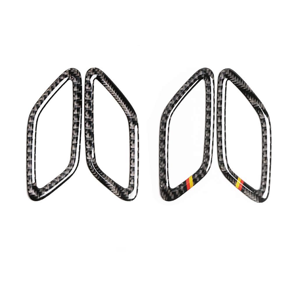 Idyandyans 2PCS Car Carbon Fiber Dashboard Ventilation Frame Sticker for Mercedes C Class W205 c180 C200 GLC #1