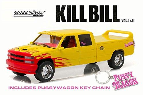 - Greenlight Kill Bill 1997 Custom Crew Cab Pussy Wagon Pick-Up Truck, Yellow 19015 - 1/18 Scale Diecast Model Toy Car