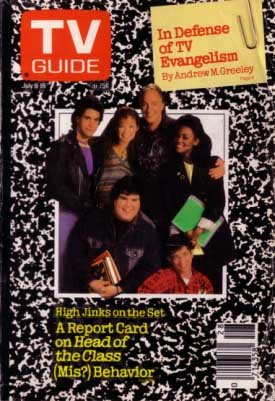 TV GUIDE 7/9/88-HEAD OF THE CLASS SERIES-ROBIN GIVENS VG